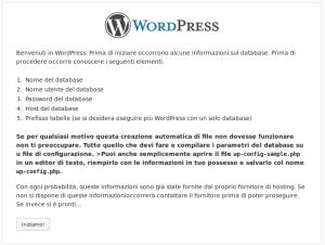 Installazione di WordPress - 2