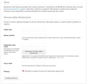 Installazione di WordPress - 5